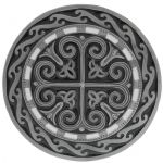 Celtic Round Cross Belt Buckle with display stand (LJ1)